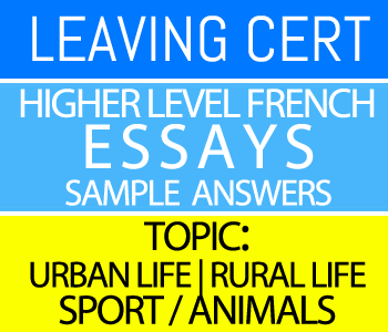 Leaving Certificate Higher Level French Essays Course 2-Sample Answers-Topic : Sport / Animals course image