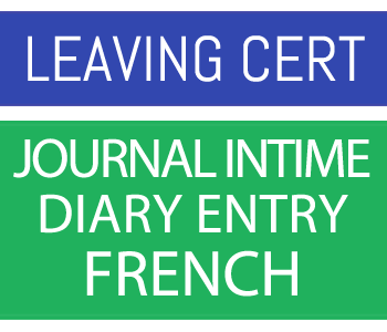 Leaving certificate French Journal Intime - Diary Entry course image
