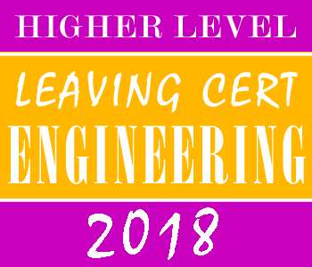 2018 Exam Paper | Leaving Cert | Higher Level | Engineering course image