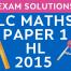 LC Maths 2015 Exam paper